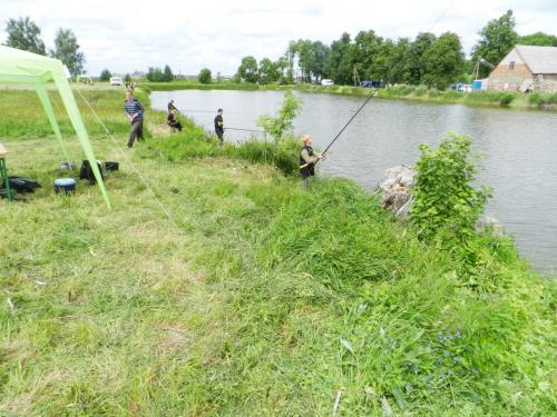 Žvejojame Linkavičių tvenkinyje