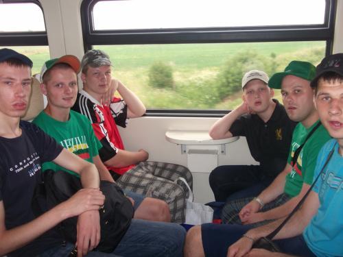 11 šeimynos išvyka traukiniu į Mažeikius2