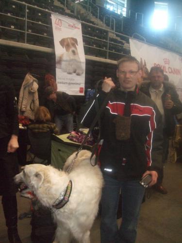 Andrius šunų parodoje
