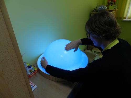 Andrius G. džiaugiasi piešimo burbulu
