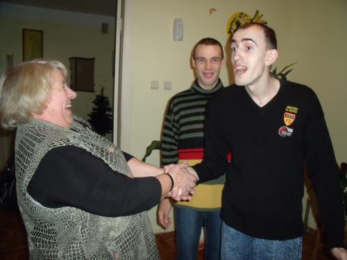 Danutė Adomauskienė svečiuojasi šeimynoje