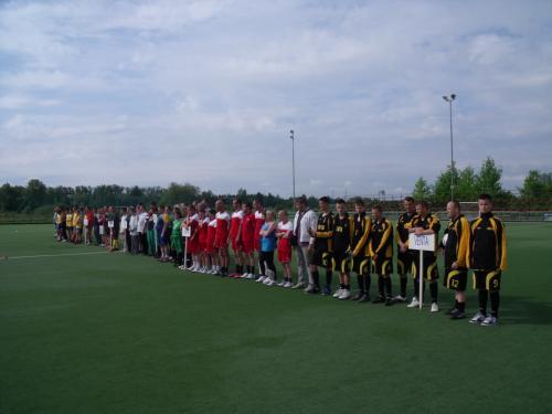 Futbolo varžybų dalyviai