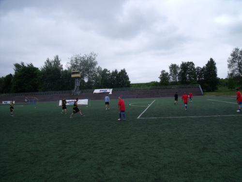 Futbolo varžybų momentas