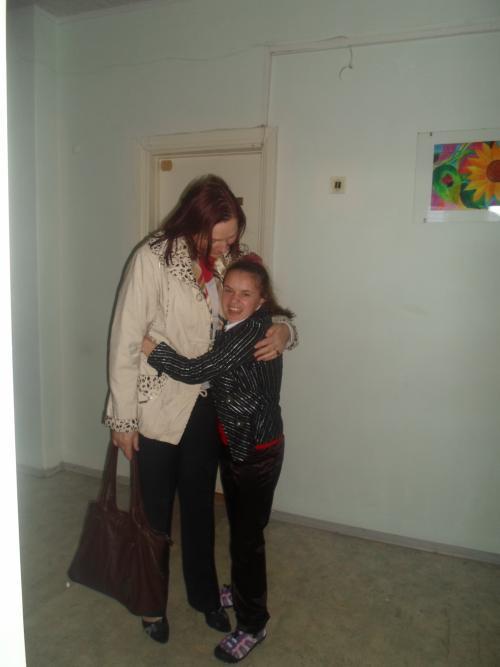 Jurgita su savo buvusia mokytoja
