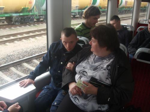 Kelionė traukiniu namo