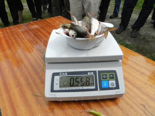 Mūsų žuvys svėrė tiek