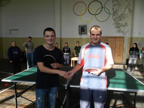 Pirmos ir antros vietos nugalėtojai - Artūras ir Egidijus