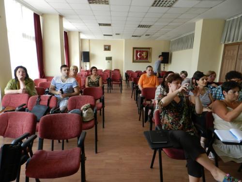 Projekto dalyviai mokymų metu