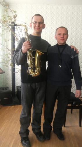 Renatas su mokytoju G. Jankumi