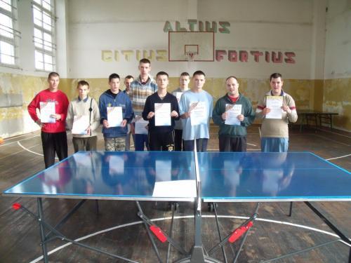 Stalo teniso varžybų dalyviai