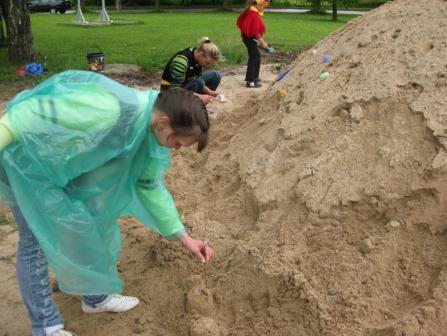 Statome smėlio pilis