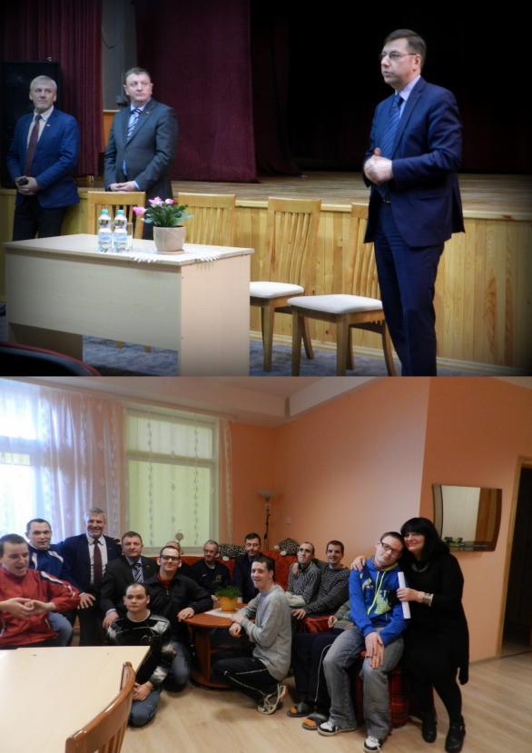 Seimo narių ir kandidato į merus vizitas